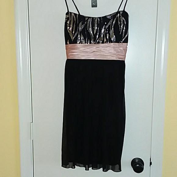 City Triangles Dresses & Skirts - black Sequin zebra cocktail party dress